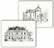 Exclusive French château note cards