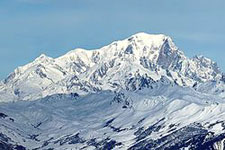 Mont Blanc South Face.  Photo courtesy of Wikipedia.