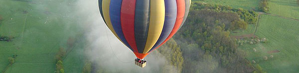 Balloon over Burgundy.  Photo courtesy of Montgolfières en Bourgogne web site.