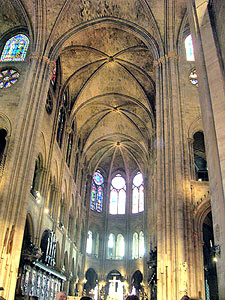 Interior Notre Dame, Paris.  Copyright Cold Spring Press.  All rights reserved.